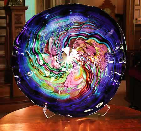 Art at Seattle bed and breakfast, The Gaslight Inn | glass dish