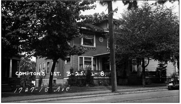 archival photo of Seattle bed and breakfast The Gaslight Inn